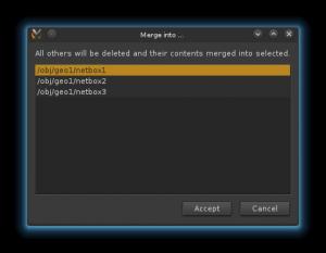 eyevexTools selectNetboxFromListFormMerge dialog